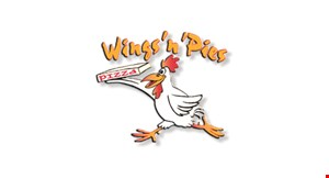 Product image for Wings 'N' Pies $11.99 +tax large pizza $16.99 +tax party size pizza