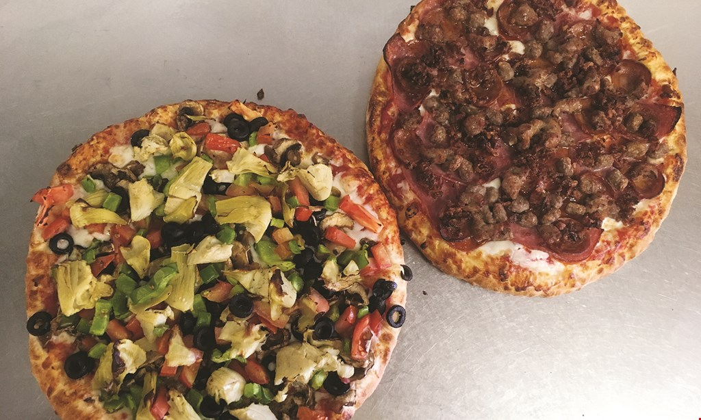 Product image for Fattes Pizza $25.99 + tax 2 large veggie pizzas