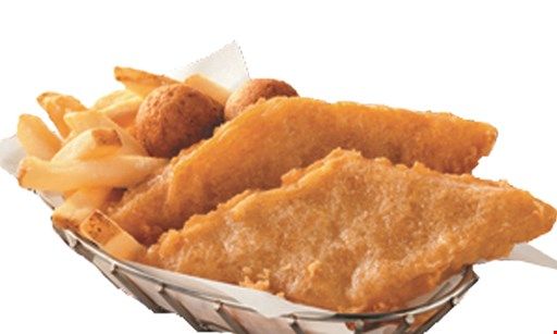 Product image for Long John Silver's FREE BASKET buy 1 basket, get 1 free of equal or lesser value valid with fish or chicken basket only.