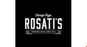 "Product image for Rosati's Pizza $19.99 16"" THIN CRUST 2-TOPPING PIZZA & 2-LITER POP."