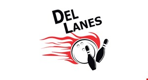 Product image for Del Lanes $35 For 2 Games Of Bowling, Shoe Rental, 1 Large Cheese Pizza & 1 Pitcher Of Soda For 4 People (Reg. $70)