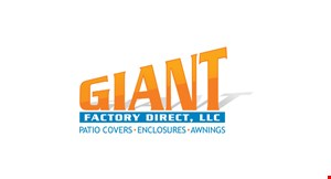 Product image for Giant Factory Direct, LLC 10% OFF all patio covers.