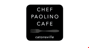 Product image for Chef Paolino Cafe $2 OFF any purchase of $10 or more.