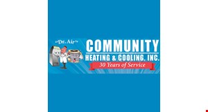 Product image for Community Heating & Cooling, Inc. 10% off AIRSCRUBBER PLUS.