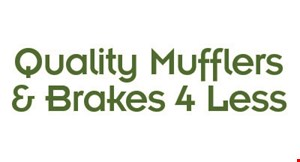 Product image for QUALITY MUFFLERS 4 LESS $16.95 oil change