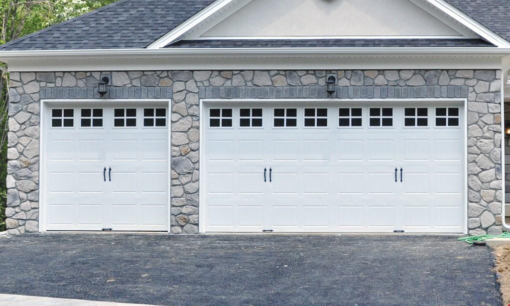 Product image for Precision Overhead Garage Door Service $150 OFF a new single car garage door or $250 OFF a new double car garage door.