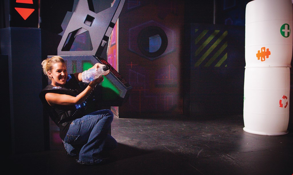 Product image for Lasertron - Amherst $30 OFF Youth or adult event -or- $10 Arcade Bonus per Person.
