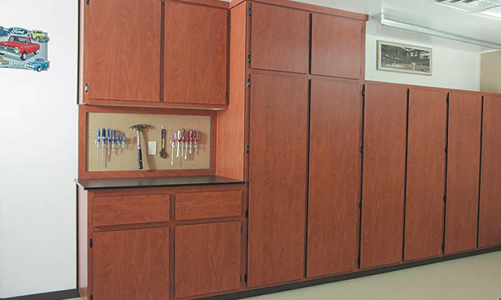 Product image for Neil's Garage Cabinets $595 for 12 feet of garage cabinets installed, includes all taxes.