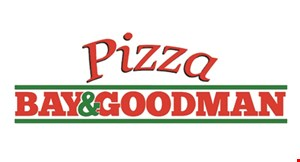 Product image for Bay & Goodman Pizza - Fairport $17.98 + tax medium cheese pizza & 10 wings