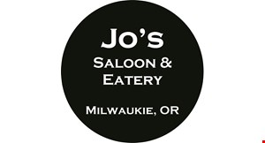 Product image for Jo's Saloon & Eatery FREE delivery ($5 value).