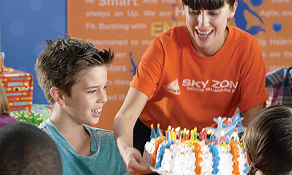 Product image for Sky Zone Trampoline Park 50% off Axe Throwing