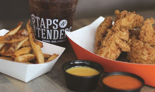 Product image for Taps N Tenders Free tenders (hand breaded or grilled) buy one, get one free.