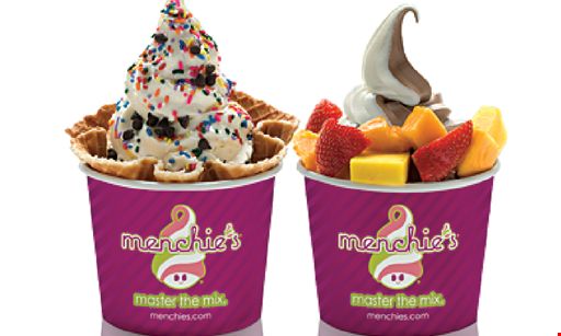 Product image for Menchie's Frozen Yogurt  1/2 OFF