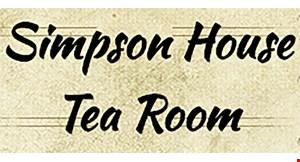 Simpson House Tea Room logo