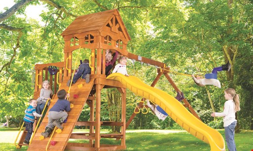 Product image for Rainbow Play Systems, Inc. $199 swing set & trampoline Regular Price $500+.