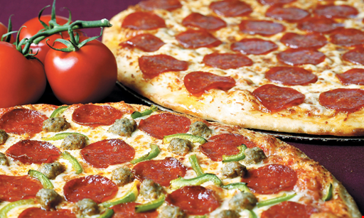 Product image for Mancino's Pizzeria $21.99 +tax 2 large plain pizzas & 2-liter soda.