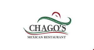 Product image for Chago's Mexican Restaurant $10 off total check of $50 or more