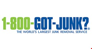 Product image for 1-800-Got-Junk Book today and save $25* on up to half a load.