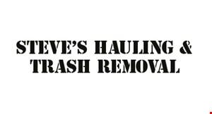Product image for Steve's Hauling & Trash Removal $25 Off any job