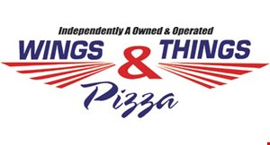 Product image for Wings, Things & Pizza - Laurel only $21.99 +tax. 1 large pizza w/2 toppings & 10 party wings.
