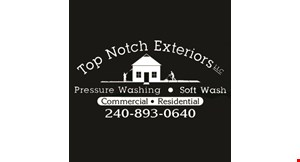 Product image for Top Notch Exterior $25 off full house exterior cleaning.
