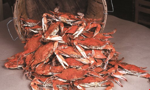 Product image for A&A Crab House $5 OFF any blue crab purchase of $45 or more.
