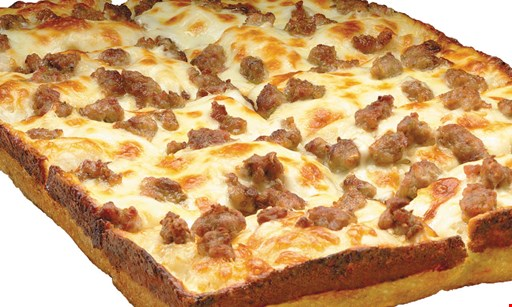 Product image for Jet's Pizza Free Small Detroit-Style Deep Dish Pizza With Premium Mozzarella & 1 Topping With Any Purchase Of $10 - Online Only.