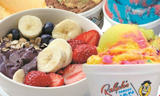Product image for Ralph's Famous Italian Ices & Ice Cream 1/2 off Acai Bowl. Buy 1 Acai Bowl, get 1 1/2 off.