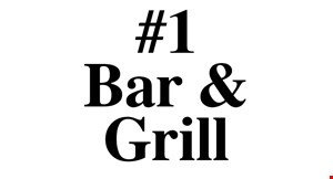 Product image for #1 Bar & Grill $10 OFF any order of $50 or more.