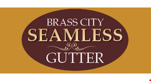 Product image for Brass City Seamless Gutters $25 OFF any gutter repair service call.