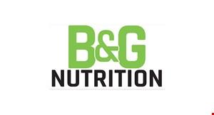 B & G Nutrition logo