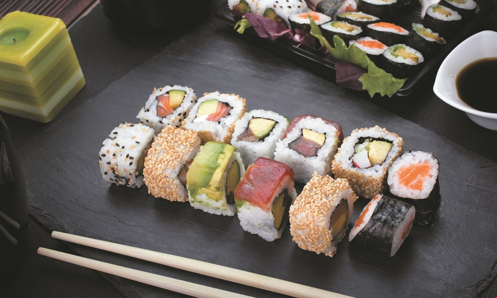 Product image for Sakura Sushi Bar buy 2 get 1 1/2 OFF lunch entree Monday-Friday.