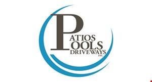Patios, Pools & Driveways Inc logo