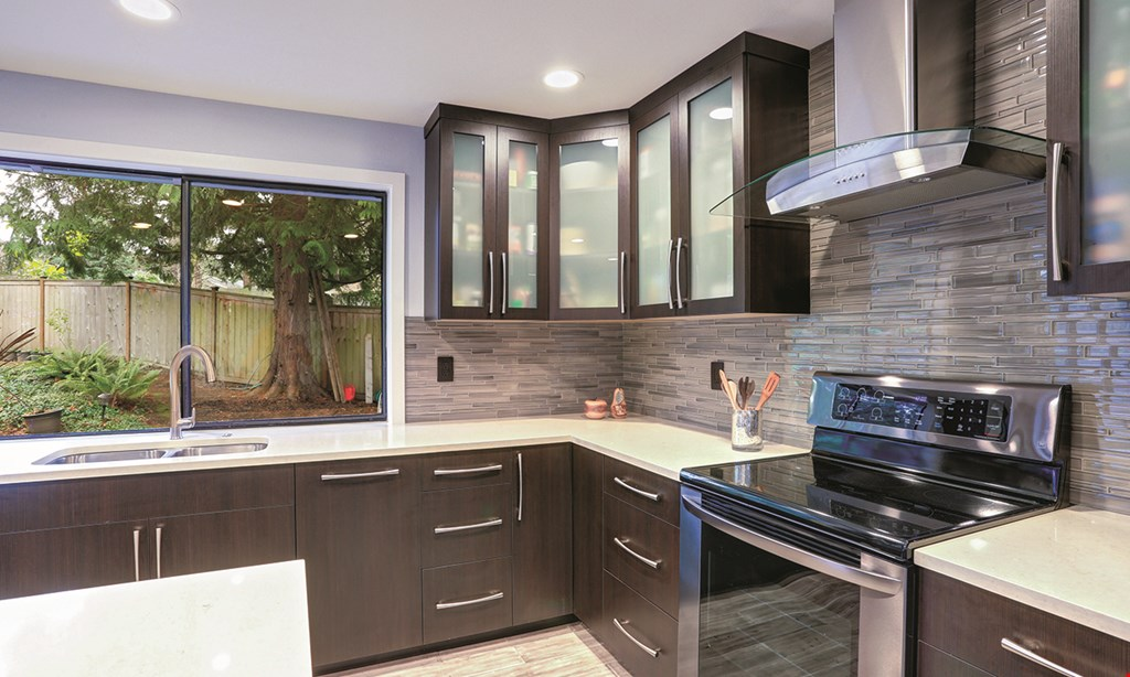 Product image for Elegant Surfaces $100 OFF complete cabinet refacing job $1,000 minimum.