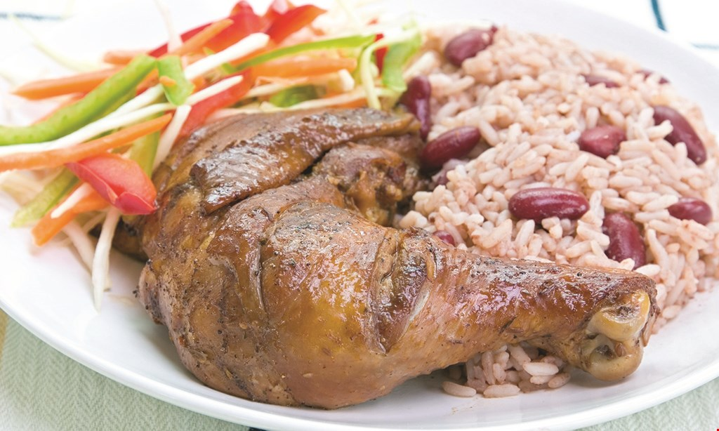 Product image for The Dutch Pot Caribbean & American Flavors 1/2 OFF entree with purchase of entree and 2 drinks.