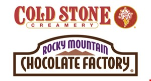 Cold Stone Creamery And Rocky Mountain Chocolate Factory logo