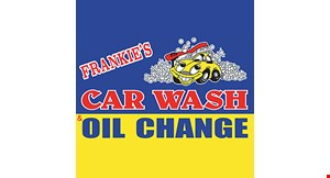 Product image for Frankie's Car Wash $10 Off any oil change service.