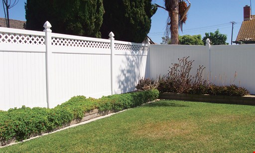 Product image for PVC Fence Of Long Island $1975 for 96' of 6' x 8' privacy PVC fence installed in cement