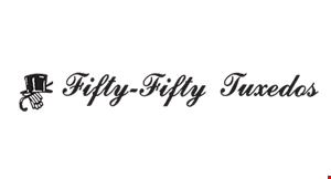 Fifty-Fifty Tuxedos Rentals & Sales logo