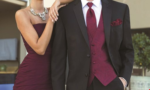 Product image for Fifty-Fifty Tuxedos Rentals & Sales Free tuxedo rental for groom with 5 paying rentals PLUS $40 off Ralph Lauren, Calvin Klein, Perry Ellis, Ike Behar & Cardi Tuxedos in your group