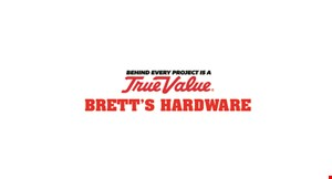Product image for Brett's True Value Hardware FREE hand sanitizer with any purchase of $10 or more.