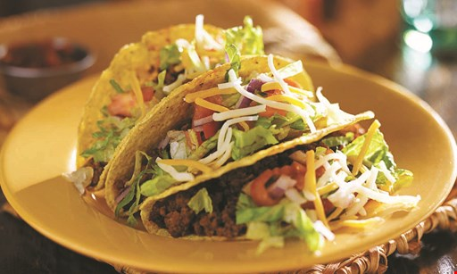 Product image for El Paso Mexican Grill $5 off purchase of $30 or more. Free Buy 1 entree, get 1 free entree Max value $8 - Min purchase $30. .