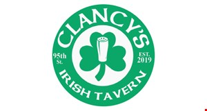 Product image for Clancy's Pizza Pub $5 free play. Minimum Purchase Required.