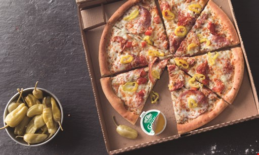 Product image for Papa John's $14.99 meal deal large 1-topping pizza, any bread side & 2-liter beverage.