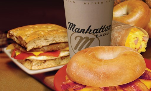 Product image for Manhattan Bagel - West Orange FREE 16 oz. cup of coffee with purchase.