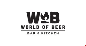 Product image for World Of Beer $10 off any check of $50 or more, dine in only.