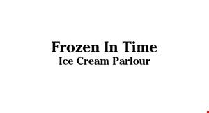 Frozen In Time Ice Cream Parlour logo