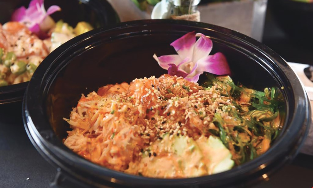 Product image for Hawaii Kitchen 10% OFF any poke bowl salad or burrito and sushi.