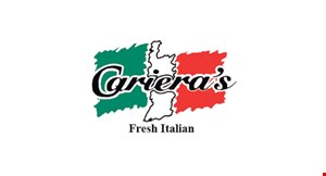 Product image for Cariera's Fresh Italian FREE cannoli with purchase of adult entree (good for up to 5 entrees purchased).