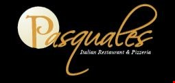 Product image for Pasquale's Italian Restaurant & Pizzeria 15% off any cash order.